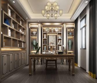 140平米三室两厅中式风格书房装修效果图