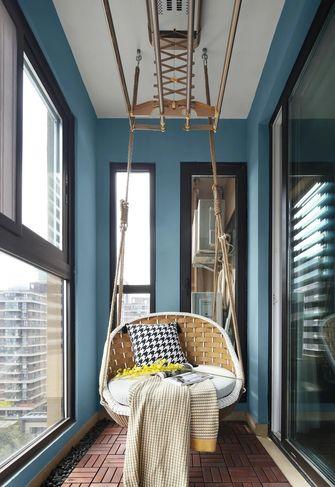 110平米三室两厅现代简约风格阳台图片