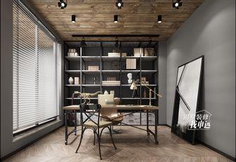 豪华型140平米三工业风风格书房图片