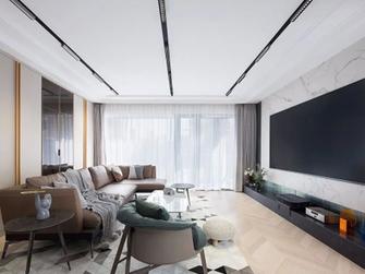 20万以上140平米三室一厅轻奢风格客厅图片大全