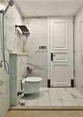 富裕型90平米美式风格卫生间图片