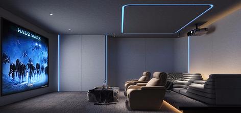 120平米三室一厅现代简约风格影音室效果图