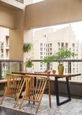 10-15万110平米三室两厅中式风格阳台图片
