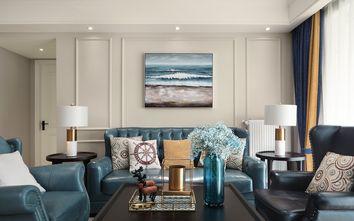 富裕型130平米三室两厅美式风格客厅图片大全