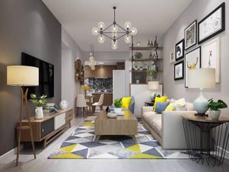 豪华型90平米三室两厅北欧风格客厅欣赏图