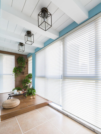 豪华型130平米三美式风格阳台图