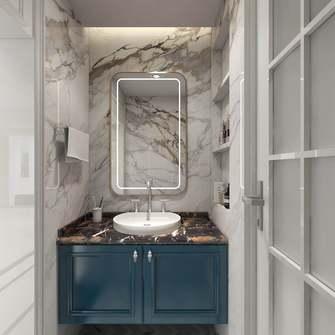 20万以上130平米四室一厅美式风格卫生间设计图