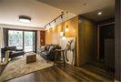 富裕型110平米三室一厅现代简约风格客厅装修效果图