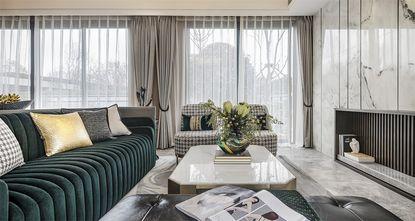 20万以上100平米三室一厅轻奢风格客厅欣赏图