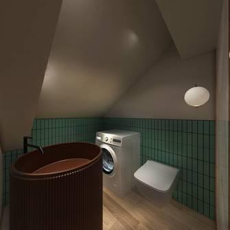 经济型120平米三室两厅轻奢风格阁楼设计图