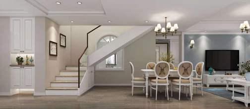 20万以上140平米四室三厅美式风格餐厅图