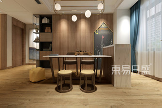 130平米四现代简约风格餐厅装修图片大全