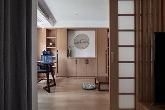 富裕型140平米三室两厅日式风格书房设计图