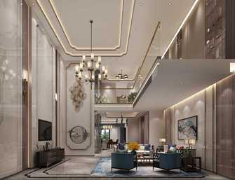 20万以上140平米别墅中式风格客厅效果图