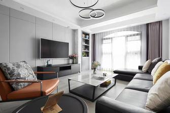 富裕型100平米三室一厅现代简约风格客厅装修效果图