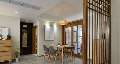 120平米日式风格客厅设计图