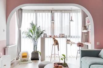 经济型60平米公寓北欧风格客厅图