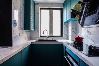 富裕型110平米三室一厅混搭风格厨房图片大全