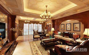 20万以上140平米四室三厅美式风格客厅欣赏图