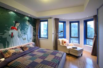 富裕型70平米地中海风格卧室欣赏图
