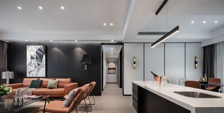 20万以上120平米三室两厅轻奢风格客厅装修案例