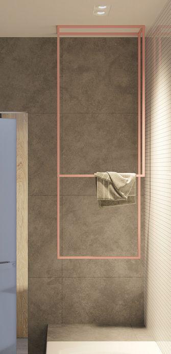 富裕型70平米田园风格卫生间设计图