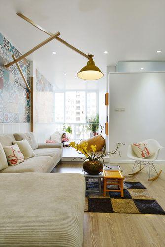 豪华型100平米三室两厅田园风格客厅图片