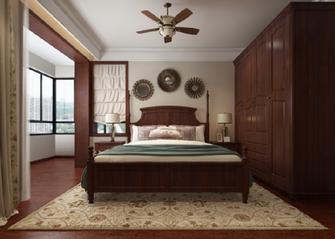 富裕型110平米三室一厅美式风格卧室装修效果图