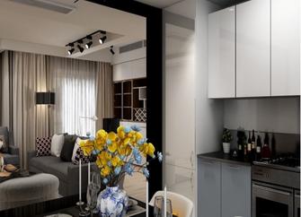 10-15万140平米三室一厅现代简约风格餐厅装修图片大全