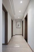 富裕型140平米三室两厅现代简约风格走廊装修案例