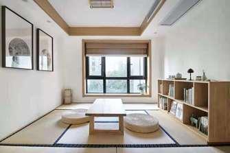 富裕型130平米三室两厅日式风格书房效果图