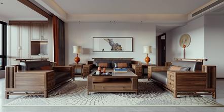 豪华型140平米中式风格客厅欣赏图