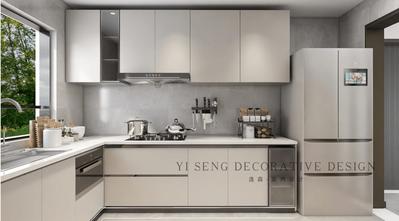 富裕型100平米混搭风格厨房装修图片大全