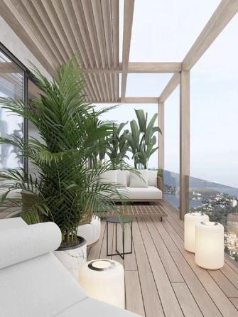 20万以上140平米三室两厅日式风格阳台装修图片大全