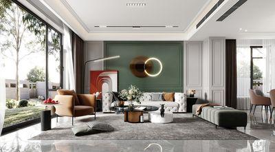 120平米三欧式风格客厅装修效果图