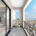 经济型120平米四室两厅现代简约风格阳台装修效果图