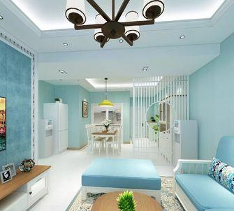 90平米三室一厅地中海风格客厅图
