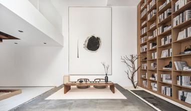 20万以上140平米别墅日式风格书房图