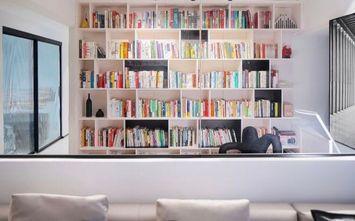 富裕型110平米三室一厅现代简约风格书房效果图