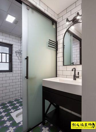 富裕型130平米三室两厅日式风格卫生间图片