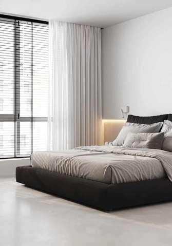 经济型60平米公寓现代简约风格卧室图