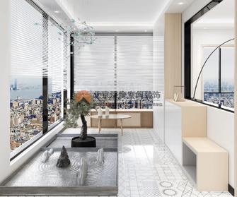 经济型100平米三室两厅北欧风格阳台图
