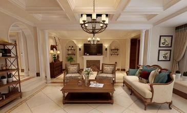 140平米三室一厅美式风格客厅装修图片大全