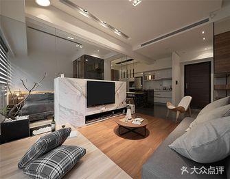 富裕型60平米一室一厅港式风格客厅装修图片大全