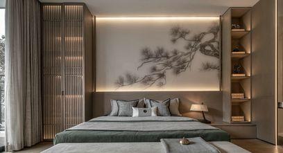 富裕型100平米三室一厅中式风格卧室设计图
