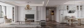 90平米欧式风格客厅装修效果图