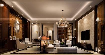 15-20万140平米四室三厅混搭风格客厅图