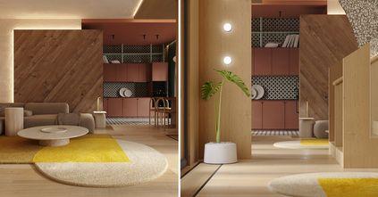 豪华型130平米复式现代简约风格客厅装修案例