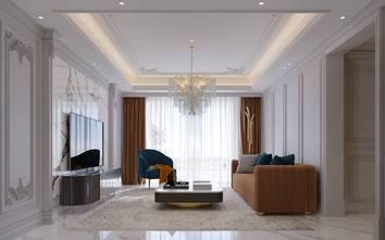 豪华型110平米欧式风格客厅设计图
