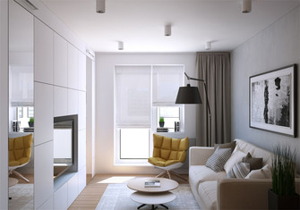 豪华型一室一厅北欧风格客厅装修案例